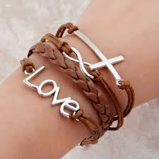 charm bracelet leather images Multilayer charm bracelet anchor bracelet men paracord bracelets jpg