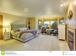 large master bedroom with fireplace stock photo image 55960248