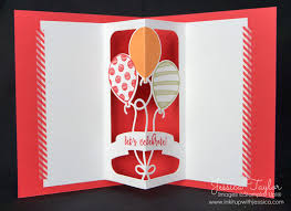 balloon adventures pop up cards ink it up with card