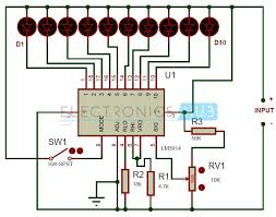 battery level indicator circuit using lm3914 circuit diagram