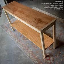 shaker sofa table 60 x 18 shaker inspired custom hardwood console