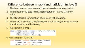 Map Java Difference Between Map And Flatmap In Java 8 Stream