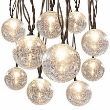 String Lights Balls by Hanging Light String Cracked Glass