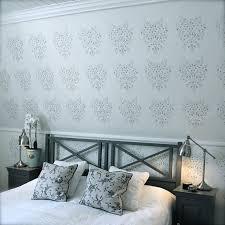 pochoir chambre design interieur peinture decorative dessin geometrique peinture