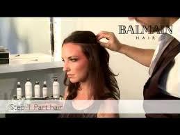 balmain hair extensions step by step application of cliptape by balmain hair extensions
