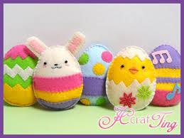 felt easter eggs delightful felt easter eggs and bunny pdf pattern 5 00