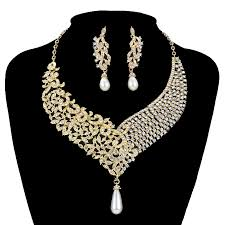 beautiful necklace images Plated wedding jewelry cz beautiful necklace set jpg
