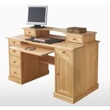 bureau informatique bois massif bureau ordinateur bois idées décoration intérieure