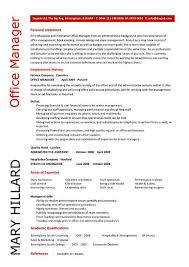 Manager Resume Examples Office Manager Resume Examples Resume Sample Of Hotel Front Desk