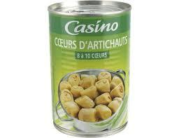 cuisiner coeur d artichaut coeurs d artichauts casino 240 g casino livré par toupargel fr