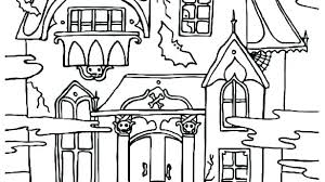 printable gingerbread house colouring page houses coloring pages daihoi info