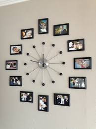 Cool Bedroom Wall Collages Photo Collage Wall Clock Tv Room Pinterest Photo Collage