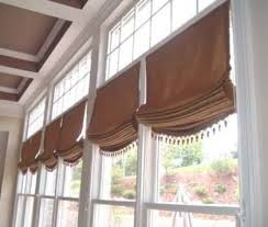 relaxed roman shade pattern unique relaxed roman shades in a marlton nj kitchen intended ideas