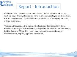 Magna Exteriors And Interiors Corp Automotive Parts And Components Market Report 2017 2022 Global In U2026
