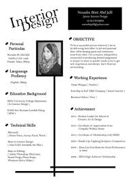 Unique Resumes Templates Interior Design Resume Template Resume Format For Interior