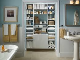 catchy bathroom closet organization ideas with small bathroom