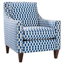 Blue Chairs For Living Room by Classic Blue Accent Chairs With Nice Leg Espresso Finish Design