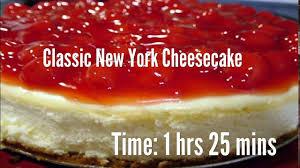classic new york cheesecake recipe youtube