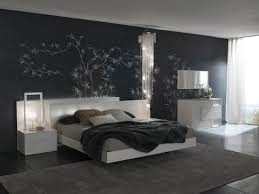 modern bedroom design ideas from evinco design vizmini modern black and white bedroom with tree wall decals and crystal pendant light and white dresser