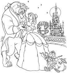 belle dancing castle balcony coloring