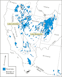 Oregon Lakes Map by Distribution Of Pluvial Lakes Within The Great Basin During The
