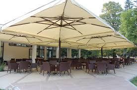 Patio Offset Umbrella The American Quad Offset Umbrella Atlanta Umbrellas