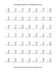 addition and subtraction worksheets first grade worksheets