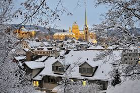 Winter Houses Wallpapers Zurich Switzerland Roof Winter Snow Cities Building