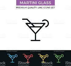 cocktail icon vector vector martini glass icon cocktail simple thin line icons set