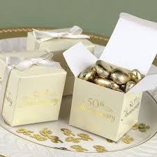 50th anniversary favors 2 x 2 ivory 50th anniversary favor boxes