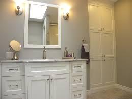 Bathroom Vanity With Matching Linen Cabinet by Mckerlie Construction Portfolio Categories Bathroom