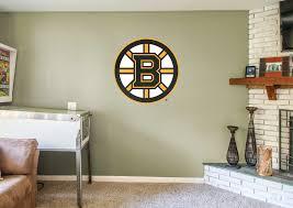 boston bruins bedroom boston bruins logo wall decal shop fathead for boston bruins decor