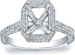 square cut halo engagement rings pave halo engagement ring for a square or rectangular