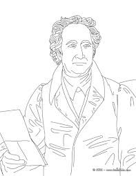 johann wolfgang von goethe famous german writer coloring pages