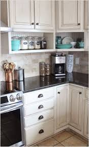 best 25 under cabinet storage ideas on pinterest bathroom sink raised wall cabinets with shelves built underneath namely original painted kitchen and remodel reveal great compromise since mark wants raised cabinets