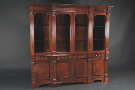 Chinese Cabinets Kitchen by Mahogany China Cabinet High End Antique Reproduction Breakfront