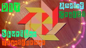 diy how to make origami star easy paper shuriken transformer for