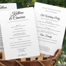 free wedding program templates wedding program templates
