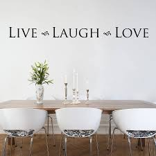 sumptuous design ideas live laugh wall plus sticker by