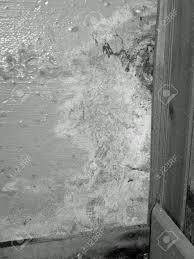 mold and water damage from basement leak black u0026 white stock photo