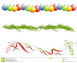 various isolated christmas borders royalty free stock photos