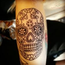 north tattoos com sugar skull tattoos for women black and white