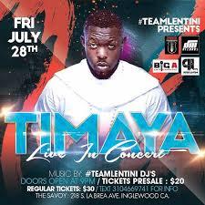 afrobeat superstar timaya in concert by the savoy entertainment