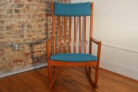 Shipping A Rocking Chair Hans Wegner Teak Rocking Chair In Maharam Fabric Galaxiemodern