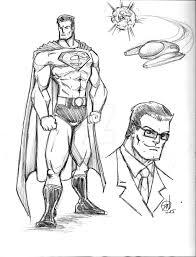 superman sketch by iandwalker on deviantart