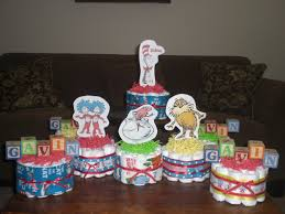 dr seuss diaper cakes baby shower by bearbottomdiapercakes on etsy
