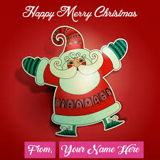 santa claus merry day wishes name image
