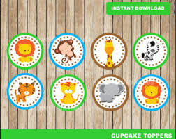 safari cake toppers safari cupcake etsy
