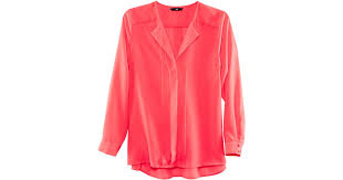 H M Draped Blouse H U0026m Blouse In Pink Lyst