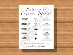 Wedding Itinerary For Guests Destination Wedding Weekend Itinerary Wedding Schedule Of